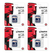 4 Kingston 4GB SD Video Picture Memory Cards - M80/M100/D55IR Trail Game Cameras