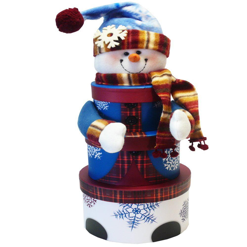Snowman Stacking Tower Christmas Holiday Gift Box Set