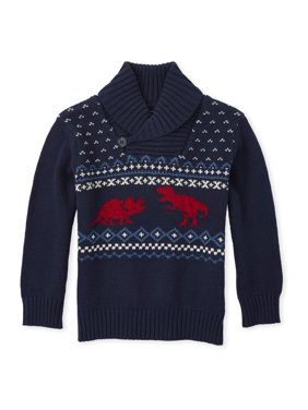 The Children's Place Baby Toddler Boy Dino Sweater