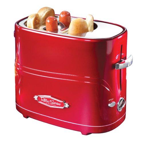 Nostalgia HDT600RETRORED Pop-Up Hot Dog Toaster