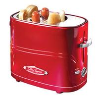 Nostalgia HDT600 Hot Dog Toaster, Retro Red