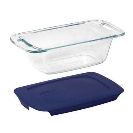 Pyrex Easy Grab 1 5 Qt Loaf Dish With Plastic Cover