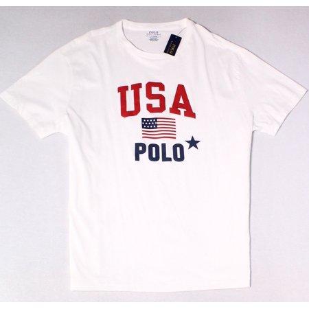 c02e8ba6 Polo Ralph Lauren T-Shirts - Polo Ralph Lauren Mens Large USA Graphic Tee T- Shirt - Walmart.com