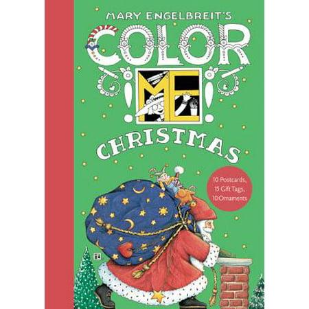 Mary Engelbreit's Color Me Christmas Book of Postcards Christmas Card List Book