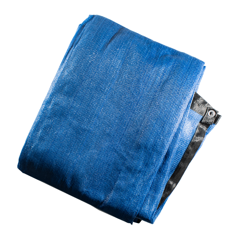 ALEKO Privacy Mesh Fabric Screen Fence with Grommets - 4 x 50 Feet - Blue