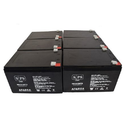 Cxi System - SPS Brand 12V 12Ah Replacement Battery for Para Systems Minuteman E32001 (6 Pack)