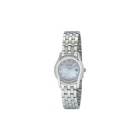 Gucci YA055510 Ladies Watch 5505 Mother of Pearl Dial Stainless steel Diamonds