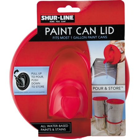 Shur line paint can lid for 1 gallon clear plastic paint cans