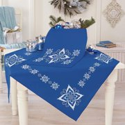 Herrschners Elegant Snowflake Table Topper & Runner Stamped Cross-Stitch