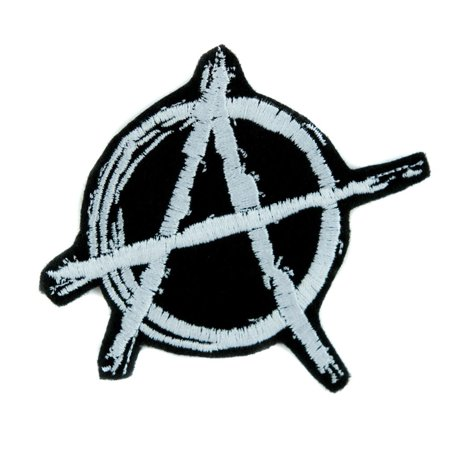 Sons Of Anarchy Patches (White Anarchy Sign Patch Iron on Applique Alternative Punk Rock Clothing)
