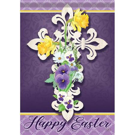 Carson Garden Flag - Happy Easter Cross
