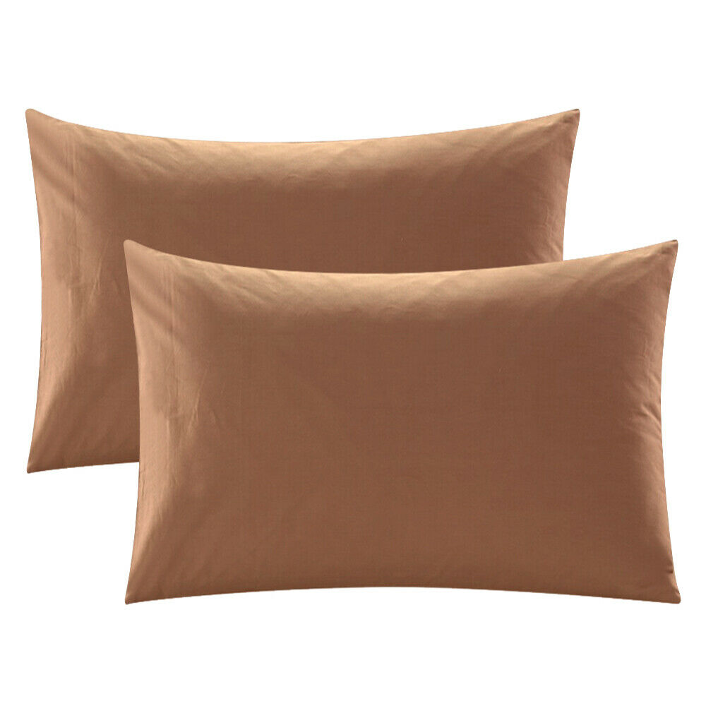 100/% Egyptian Cotton Set Of 2 Pillowcase 400 Tc Queen King Standard All size