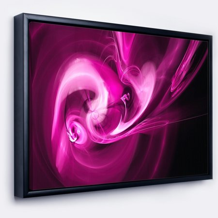 DESIGN ART Designart \'Colored Smoke Spiral Purple\' Abstract Framed ...