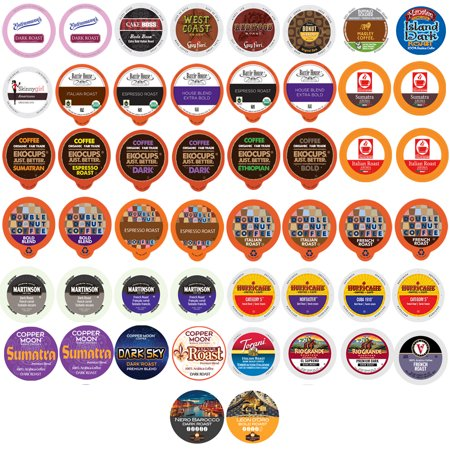 Bold & Dark Roast Coffee Single Serve Cups For Keurig K Cup Brewers Variety Pack Sampler (Bold, (Extra Bold Coffee K-cups)