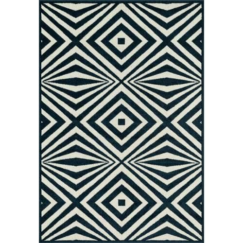 Catalina  Navy / Ivory Indoor/Outdoor Area Rug