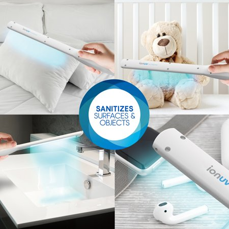 """ionUV Pro Wand – Rechargeable Handheld UV Light Sanitizer Wand with Vast, 13.48"""" Coverage Portable for Convenient sanitization on All Surfaces EPA Est. 96641-CHN-001"""