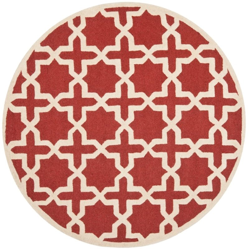 Safavieh Cambridge 3' X 5' Hand Tufted Wool Rug in Rust and Ivory - image 4 de 8