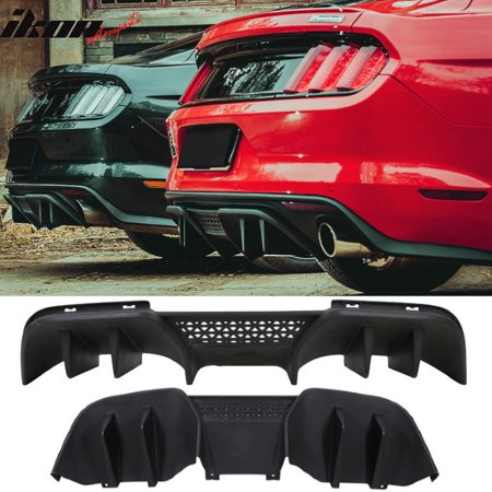 Ford Mustang Rear Bumper (Fits 15-17 Ford Mustang R-Spec V2 Lower Rear Diffuser For PREMIUM Rear)