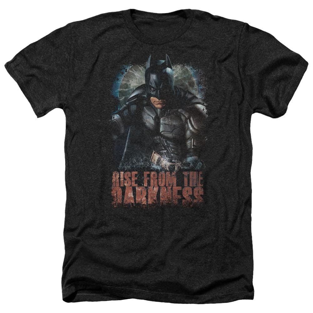 Batman Dark Knight Rise From The Darkness DC Movie Adult Heather T-Shirt Tee