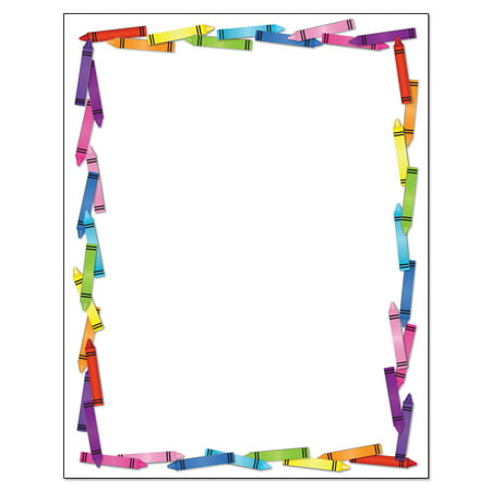 Crayon Border Stationery