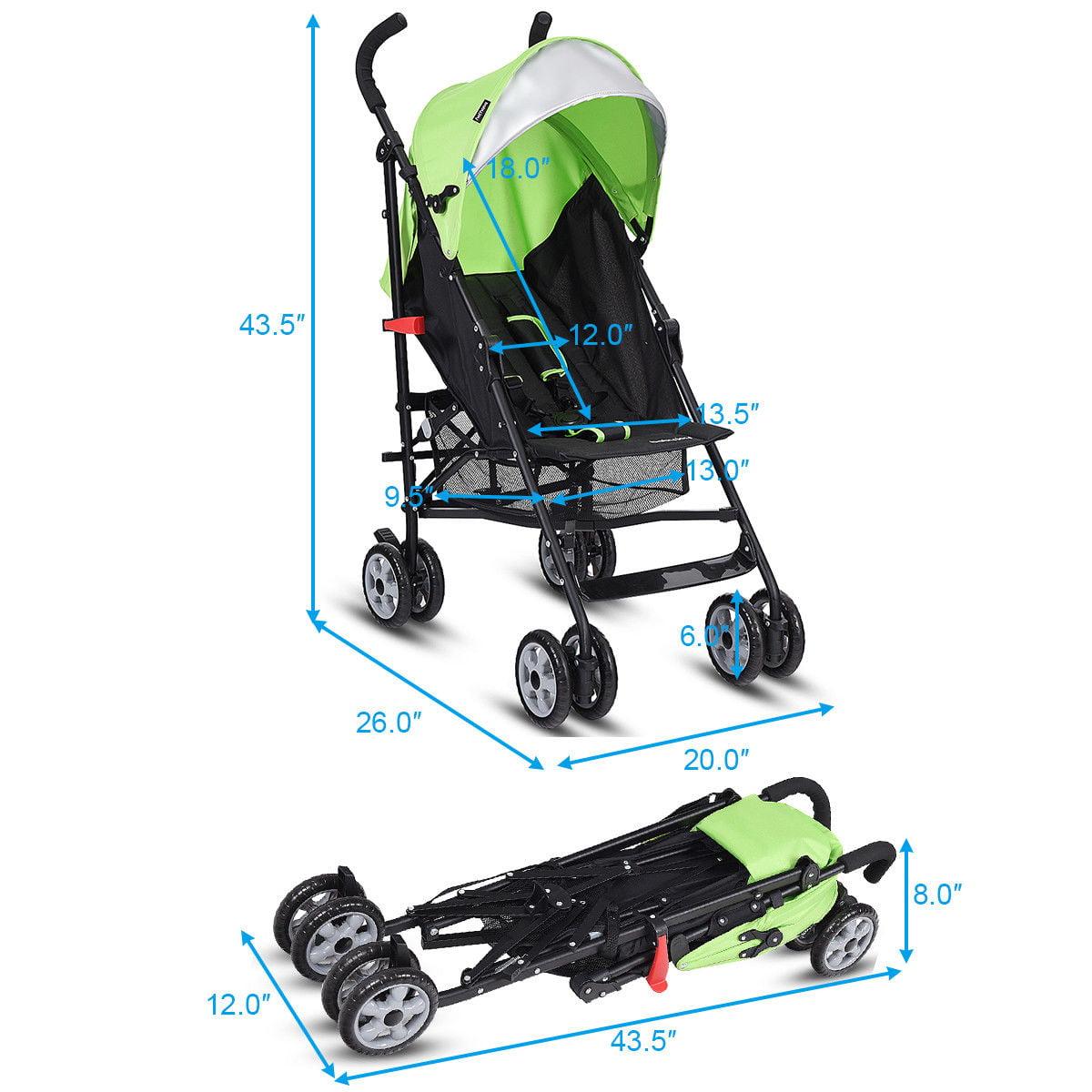 Folding Lightweight Baby Toddler Umbrella Travel Stroller w// Storage Basket New