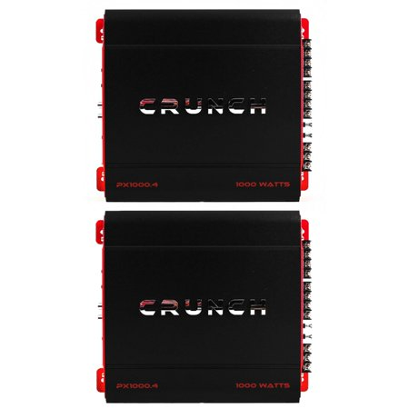 Crunch 4 Channel 1000 Watt Amp A/B Class Car Stereo Amplifier (2 Pack) ()