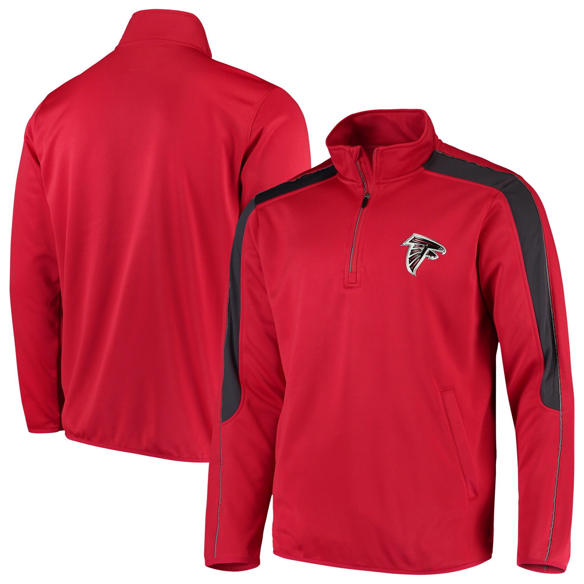 Atlanta Falcons G-III Sports by Carl Banks I Formation Quarter-Zip Pullover Jacket - Red
