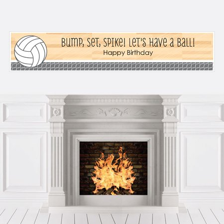 Bump, Set, Spike - Volleyball - Birthday Party Decorations Party Banner