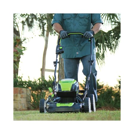 Greenworks PRO 21-Inch 80V Cordless Lawn Mower, Two 2.0AH Batteries