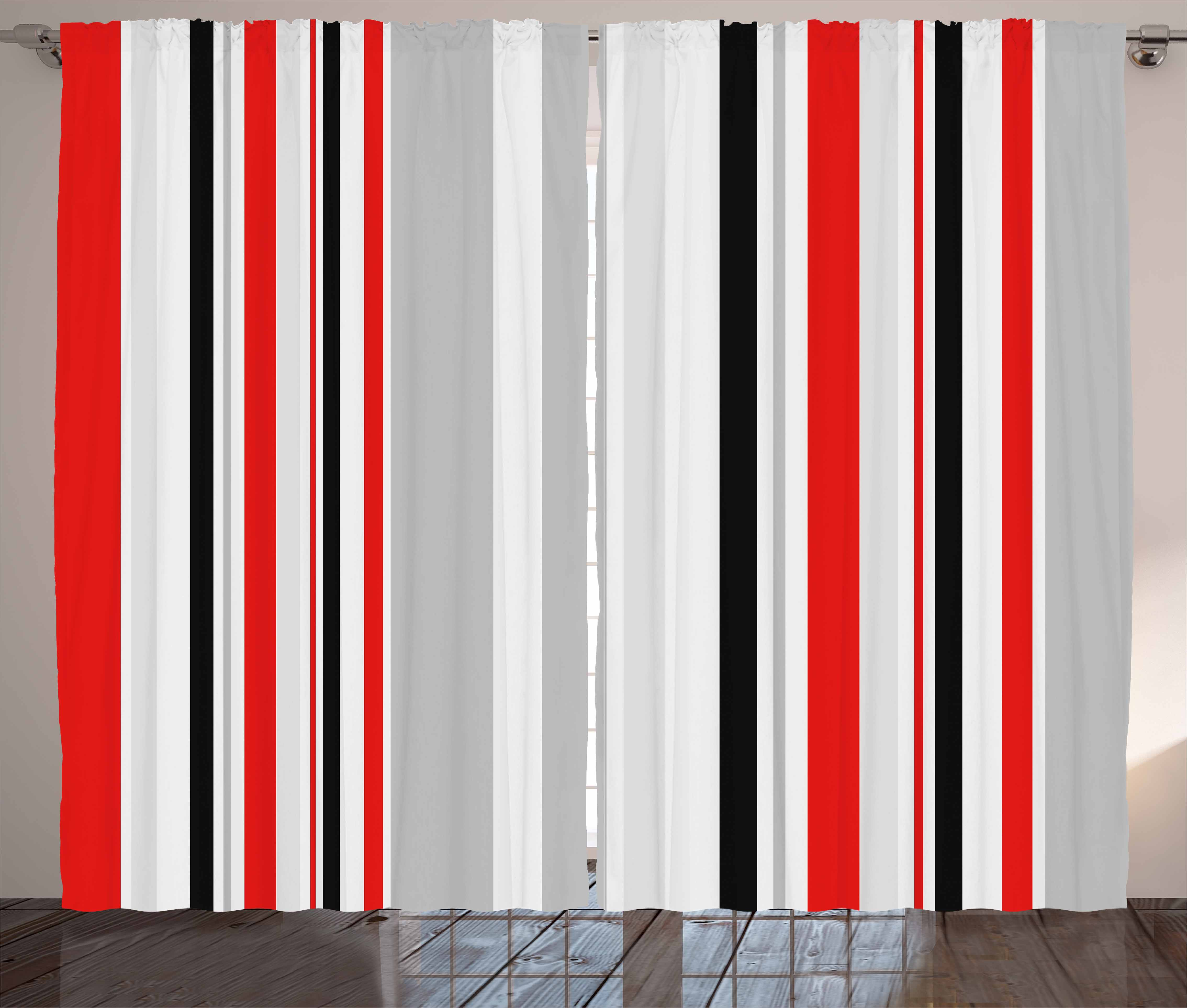 Vintage Curtains 2 Panels Set Stripes In Different Sizes