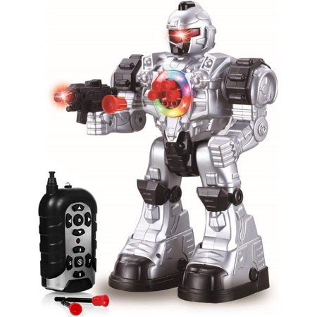 Remote Control Robot Toy - Robots for Kids Superb Fun Toy - Toy Robot Shoots Missiles Walks Talks & Dances with Flashing Lights 10 Functions - Best RC Robot Gift for Boys and Girls