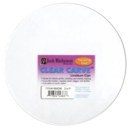 Richeson Clear Carve Linoleum - Round, 6