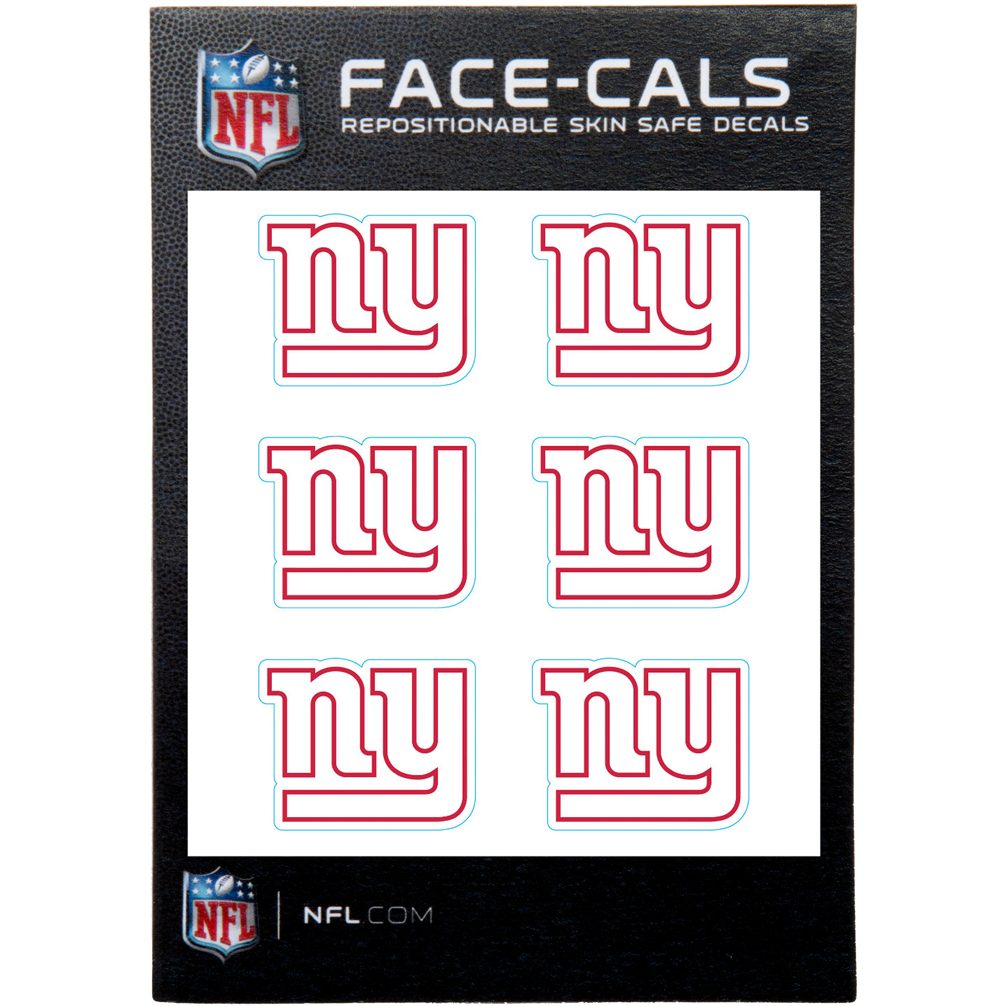 New York Giants 6-Pack Mini-Cals Face Decals - No Size