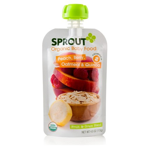 Sprout Peach, Berry, Oatmeal & Quinoa Fruit & Grain Blend Organic Baby Food, 4 oz