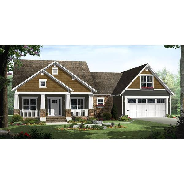 TheHouseDesigners-8565 Country House Plan with Shop Space with Basement Foundation (5 Printed Sets)