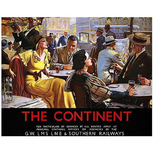 "Trademark Fine Art ""The Continent"" Canvas Art by W Broadhead"
