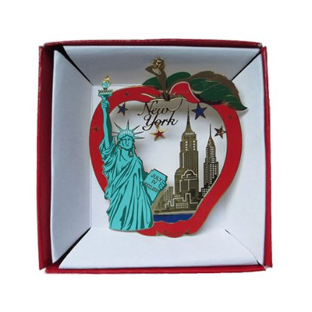 New York City Big Apple Color Brass Ornament Statue Of Liberty Empire State Building - Football Statue Of Liberty