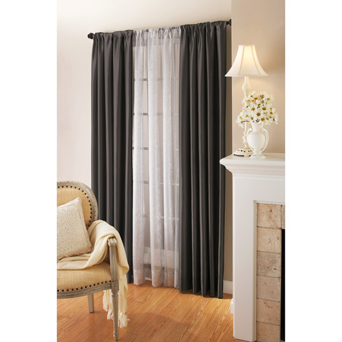 Better Homes and Gardens Antique Wallpaper Stripe Sheer Window Curtain Panel