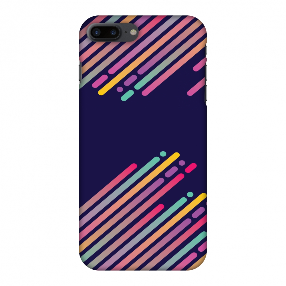iPhone 7 Plus Case - Stripes 2, Hard Plastic Back Cover. Slim Profile Cute Printed Designer Snap on Case with Screen Cleaning Kit