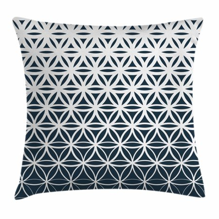 Abstract Throw Pillow Cushion Cover Retro Geometric Ombre Inspired Classy 36 Inch Square Pillow Cover