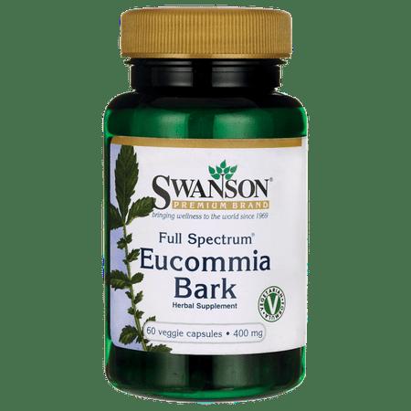 Swanson Full Spectrum Eucommia Bark 400 mg 60 Veg (Full Spectrum Vegetarian Caps)