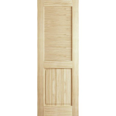(Kimberly Bay Solid Wood Louvered Pine Slab Interior Door)