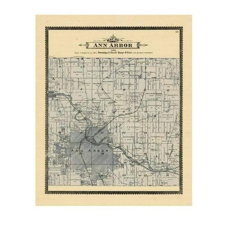1895, Ann Arbor Township, Michigan, United States Print Wall - Party Store Ann Arbor