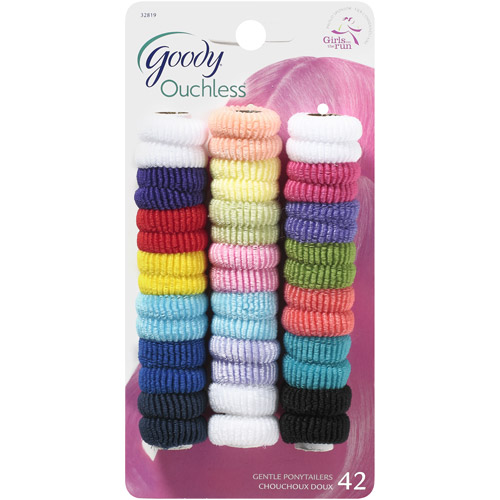 Goody Girls Ouchless Mini Terry Ponytailers, 42 count