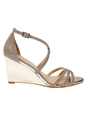 Hunt Metallic Wedge Sandals