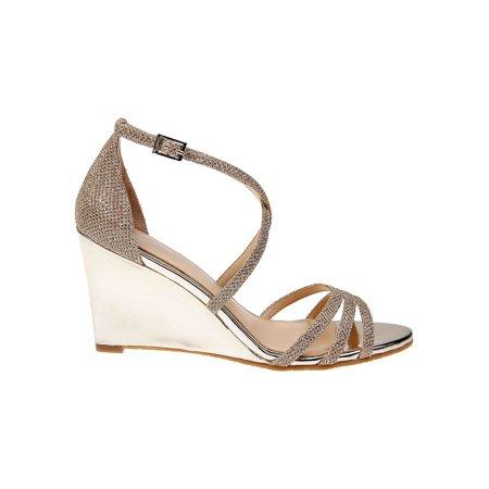 Hunt Metallic Wedge Sandals