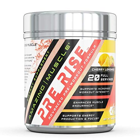 Amazing Muscle Pre workout BCAA Cherry Lemonade - Supports increased workout intensity* -Supports enhanced muscle growth, focus & endurance* -Supports energy