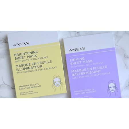 Avon Mask - Avon Anew Set of 2 Firming Sheet Mask with Royal Jelly Essence and Brightening Sheet Mask with Pearl Essence