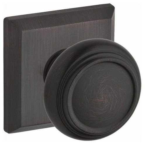Baldwin Traditional Single Dummy Door Knob with Traditional Square Rose