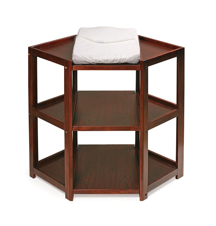 Badger Basket Diaper Corner Changing Table, Cherry by Badger Basket Company